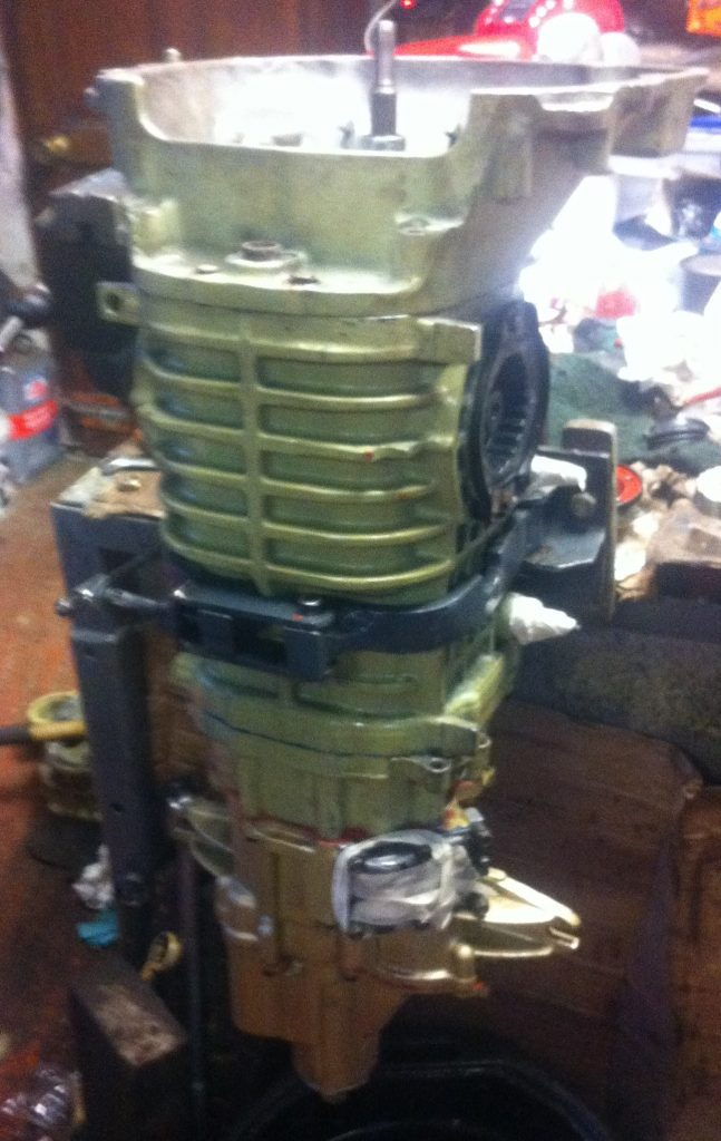 vw T3 Syncro gearbox in clamp